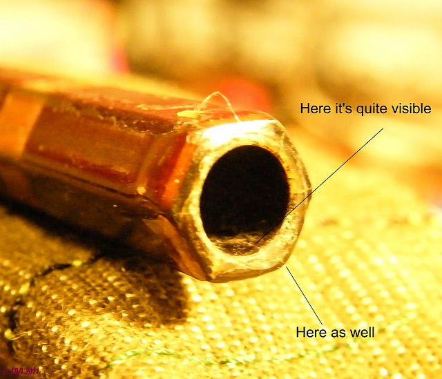 I admit the crack is hard to spot - 'G' top section ferrule